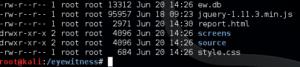 Screenshot of eyewitness files