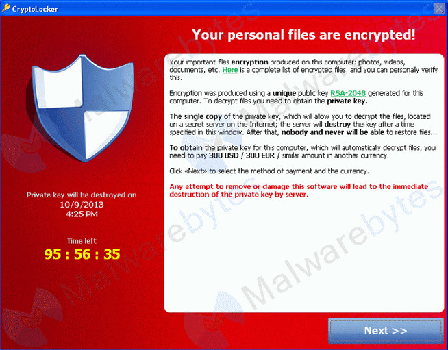 Your personal files are encrypted!
