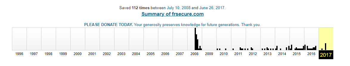 frescure.com archive.org history