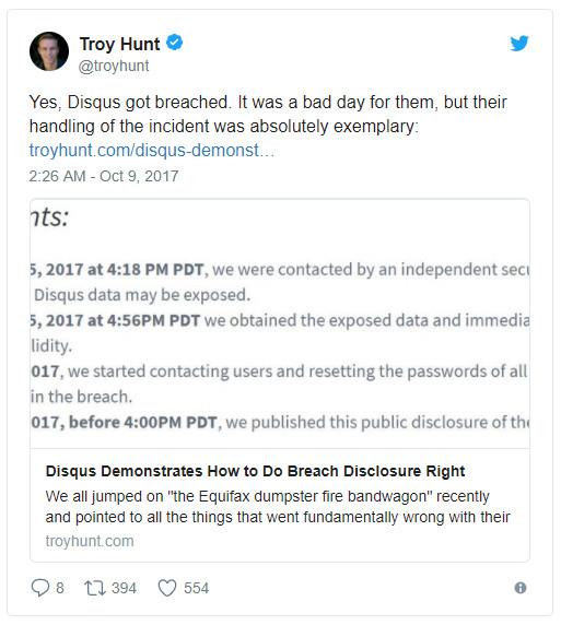 Breach Disclosure 1
