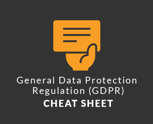 General Data Protection Regulation EU GDPR Cheat Sheet