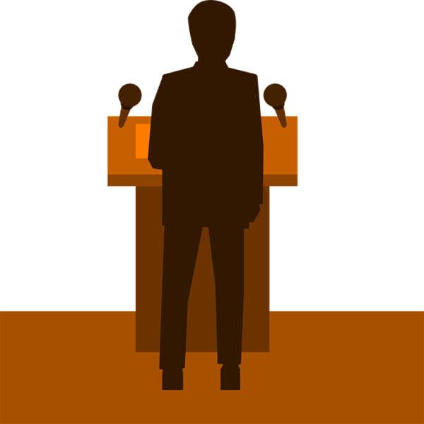 Speaker presenting