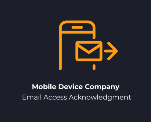 Mobile Device Company Email Access Acknowledgment