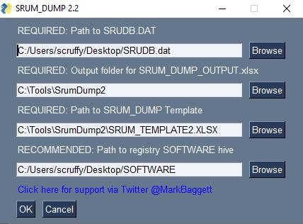 SRUM DUMP 2 Graphical User Interface