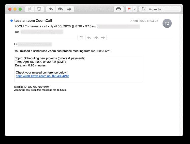 Generic Phishing Attack Example