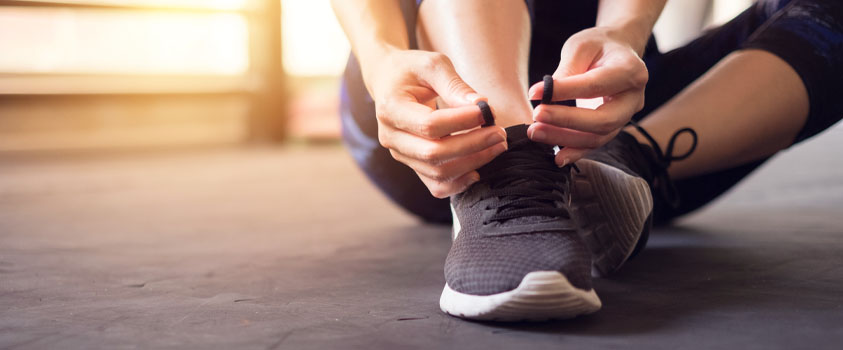 Lacing up shoes to manage stress and anxiety