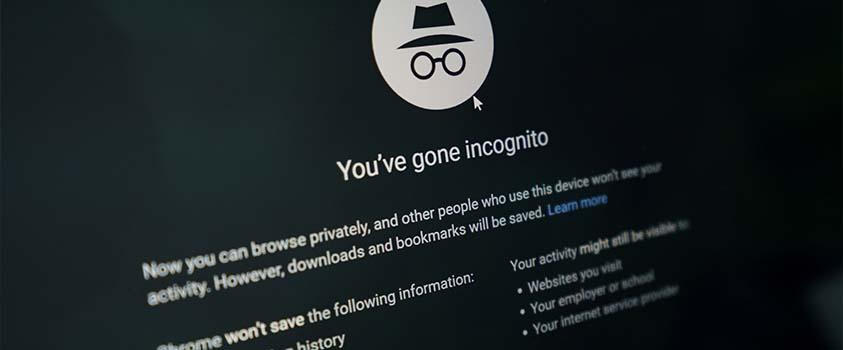 Incognito mode or private browsing mode