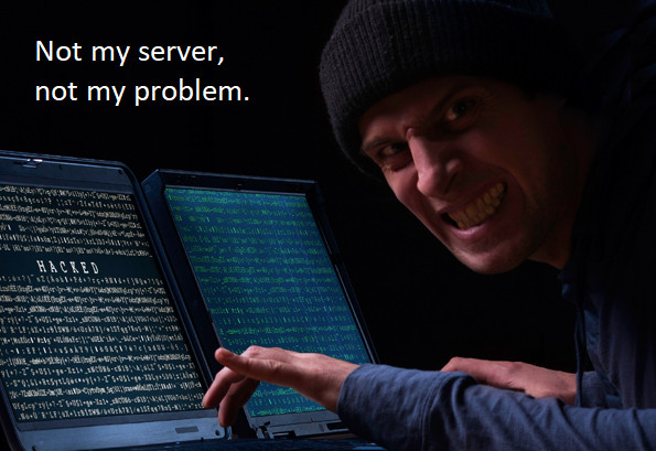 Hacked! Not my server, not my problem.