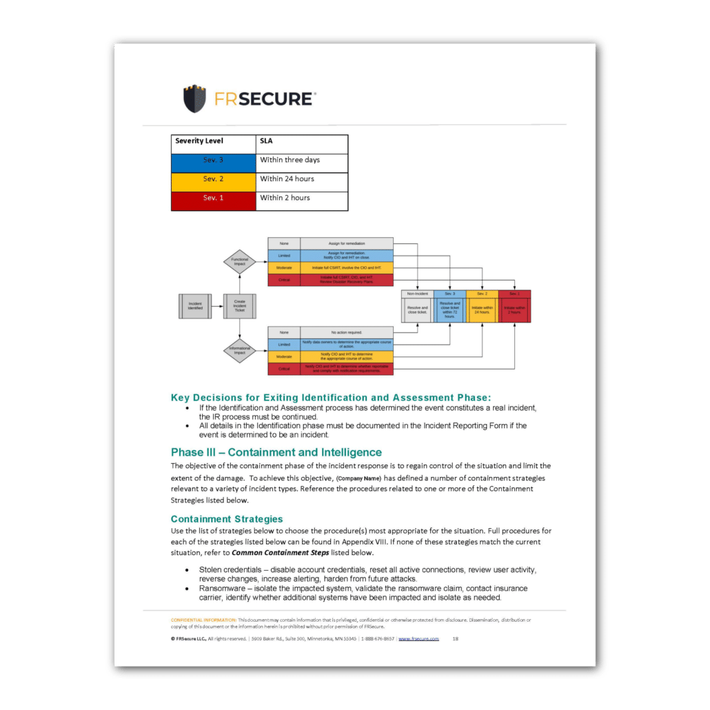 Incident Response Plan Template Sample Page 3